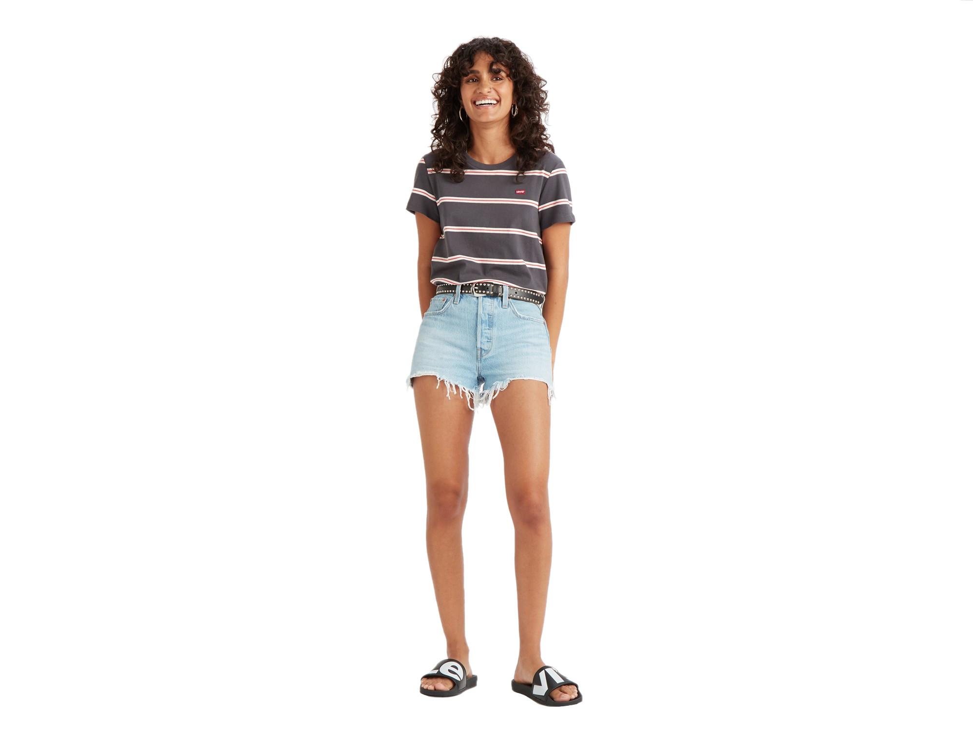 Pantalon Corto Mujer Levis 501 Original Short Luxor Heat